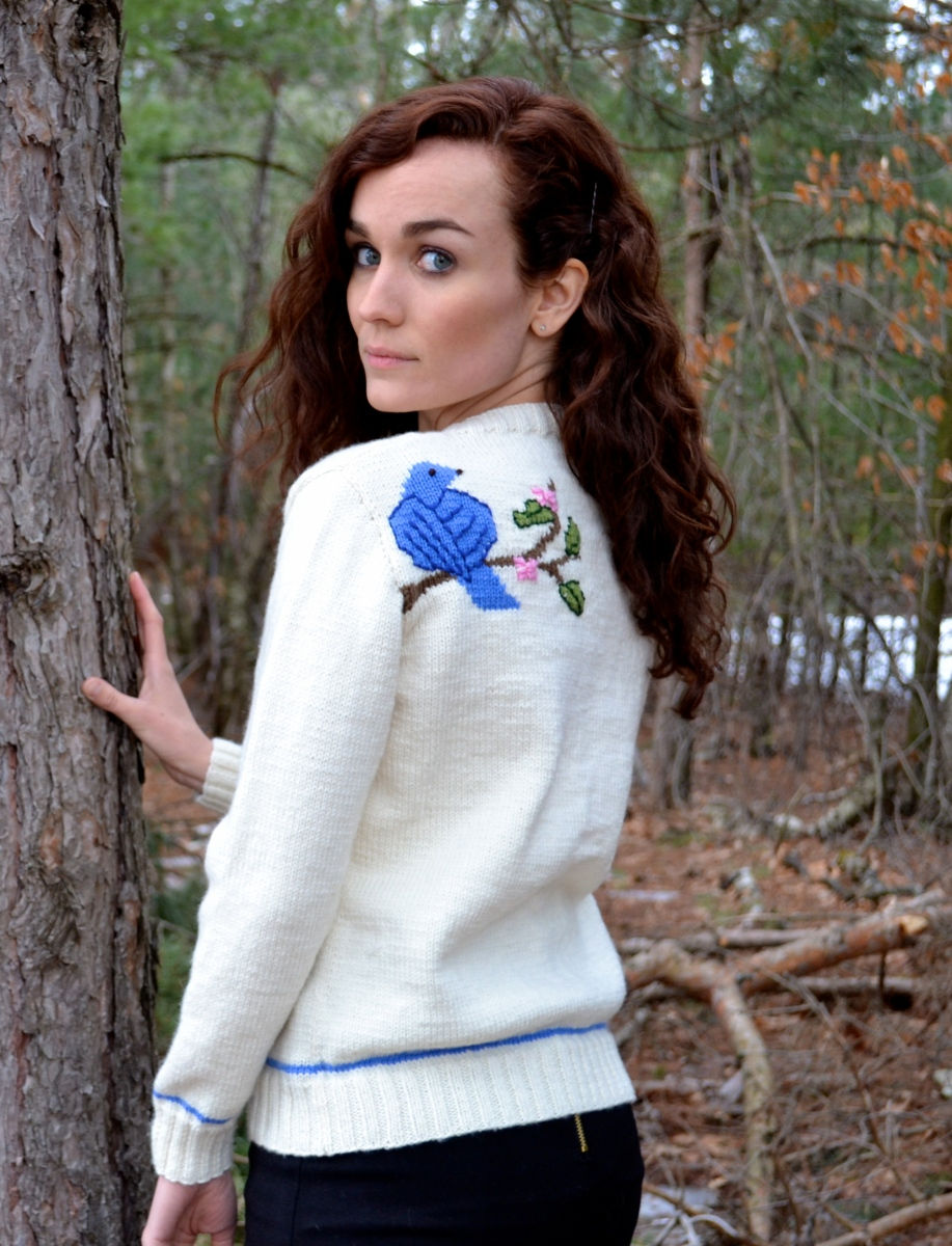 Knits of a Feather: Bluebird on My Shoulder Cardigan
