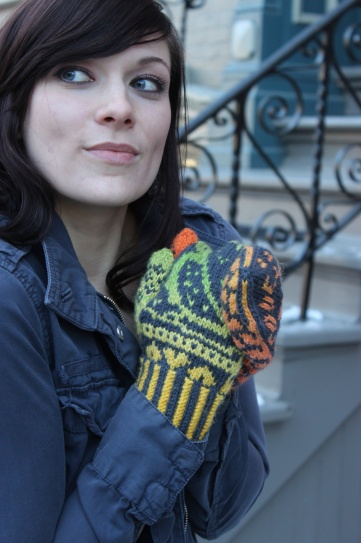 Knits of a Feather: Lovebird Mittens