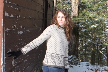 Knits of a Feather: Contour Feathers Pullover
